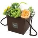 Flower Box Pachnący mydlany bukiet kwiatowy. Wiosenny