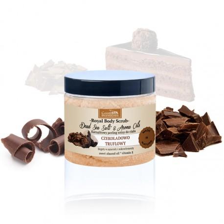 Karnalitowy peeling do ciała z olejami czekoladowo-truflowy, 350 g