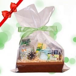 Eco Zestaw Zielony : Sól do kąpieli, Peeling, Mydełko, Bomba.
