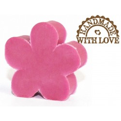 mydełko w kształcie kwiatka. zapach frezja. waga ok. 25 g