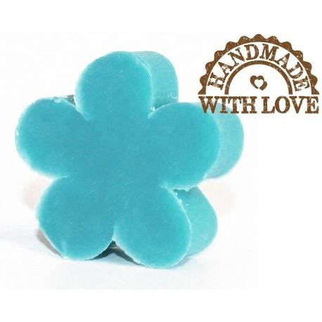mydełko w kształcie kwiatka. zapach dzwoneczek. waga ok. 25 g